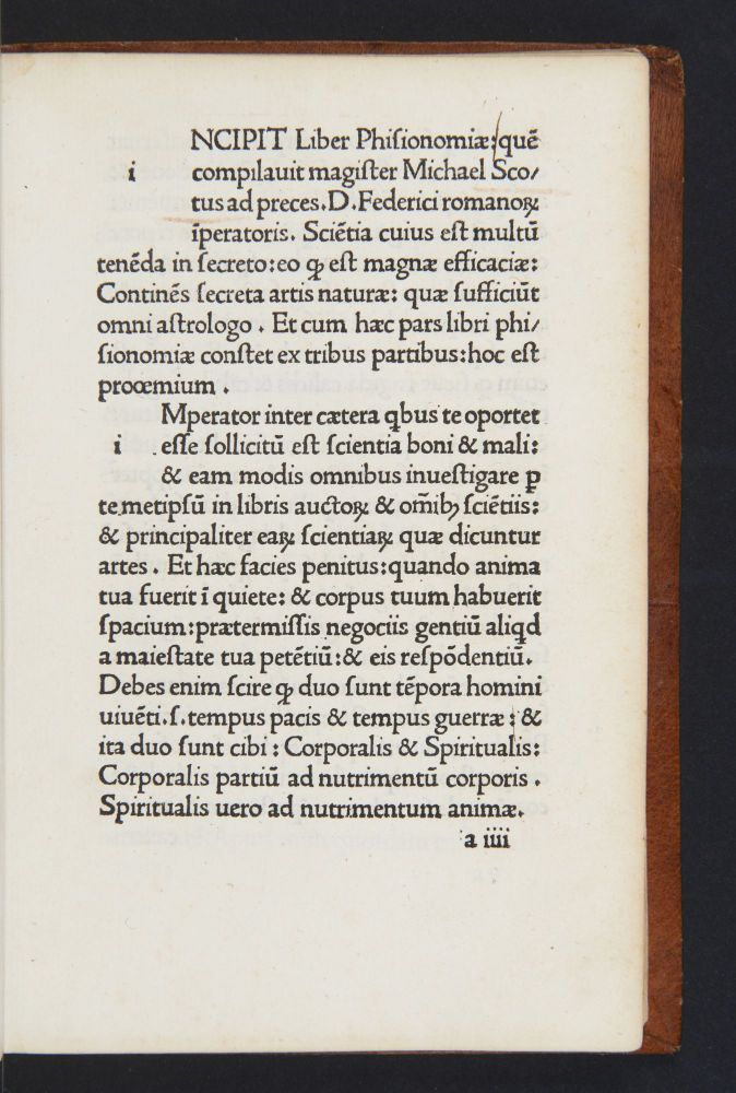 Liber Phisionomiae [and four other works]. MICHAEL SCOTUS. c.